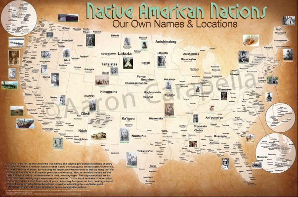 map of Native American tribes