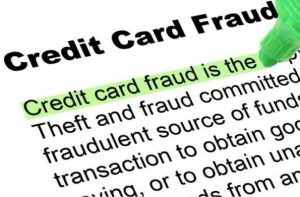 credit card fraud being highlighted in green
