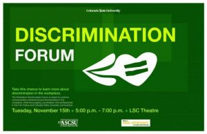 discrimination forum with supporting text