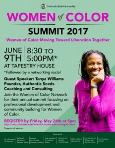 women of color summit poster