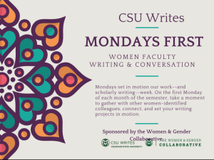 CSU Writes Mondays First flyer