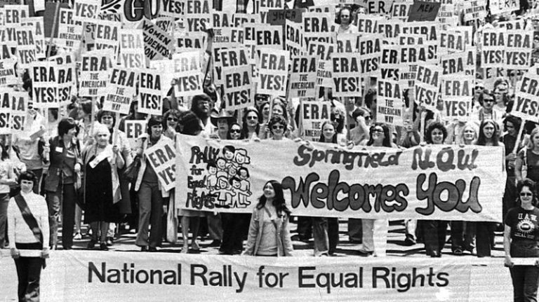 women march during the National Rally for Equal Rights