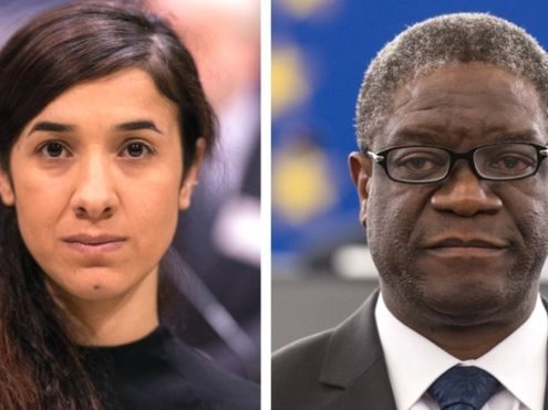 "Ms Murad and Dr Mukwege made a ""crucial contribution"" to fighting violence against women"