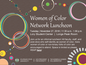 2018 WOC Network Luncheon Invitation