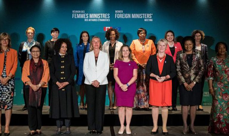 women foregin ministers posing for a picture