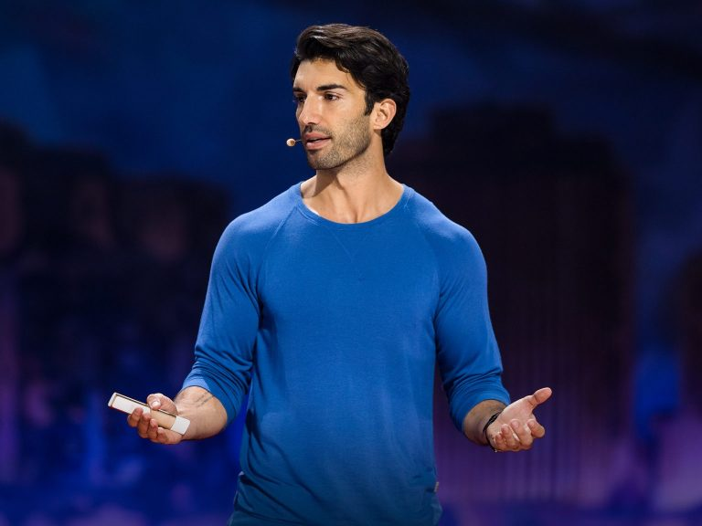 Justin Baldoni gives a TED talk