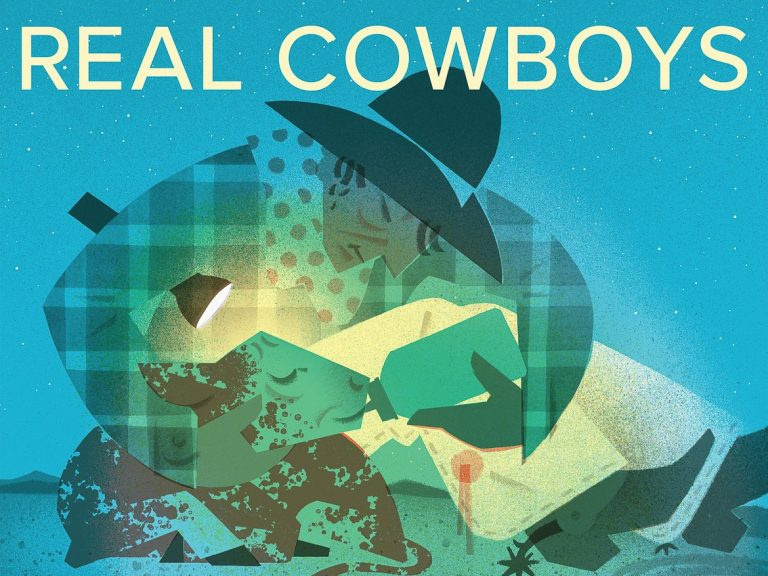 "Book cover for ""Real Cowboys"""