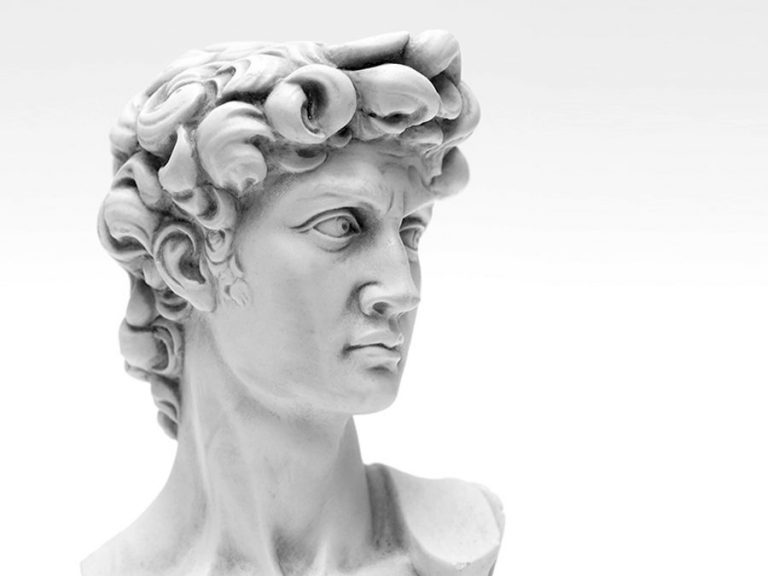 Greek bust of a man
