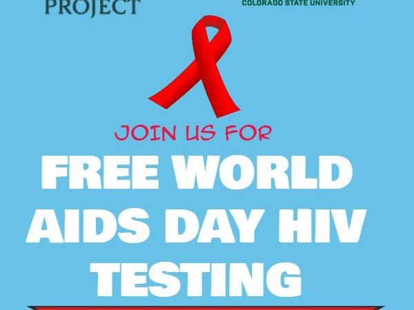 "banner that reads ""join us for free world aids day HIV testing"""