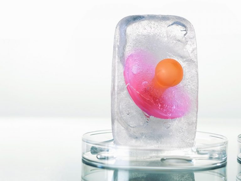 pacifier in a block of ice