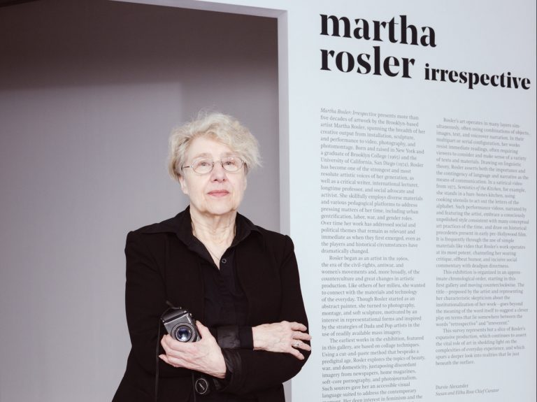 martha rosler stands for a portrait