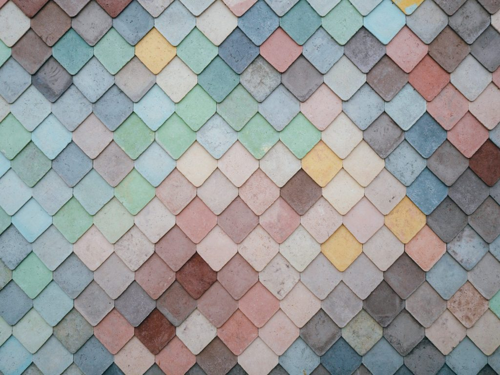 image of different colored tiles in a mosaic pattern