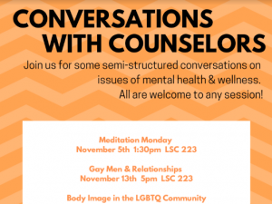 Conversations with Counselors flyer