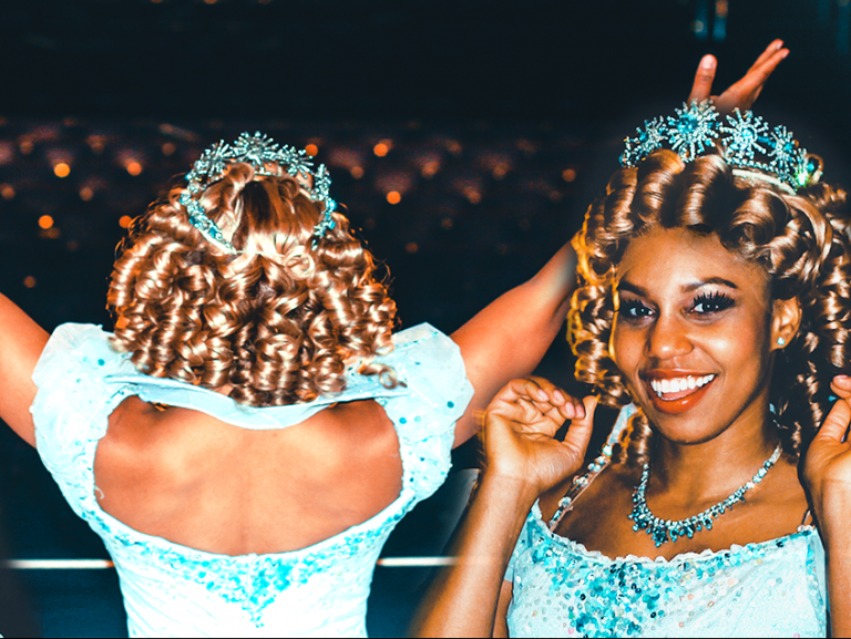 Brittney Johnson dressed as Glinda