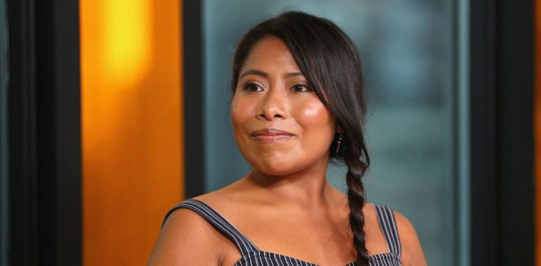 Yalitza Aparacio during an interview