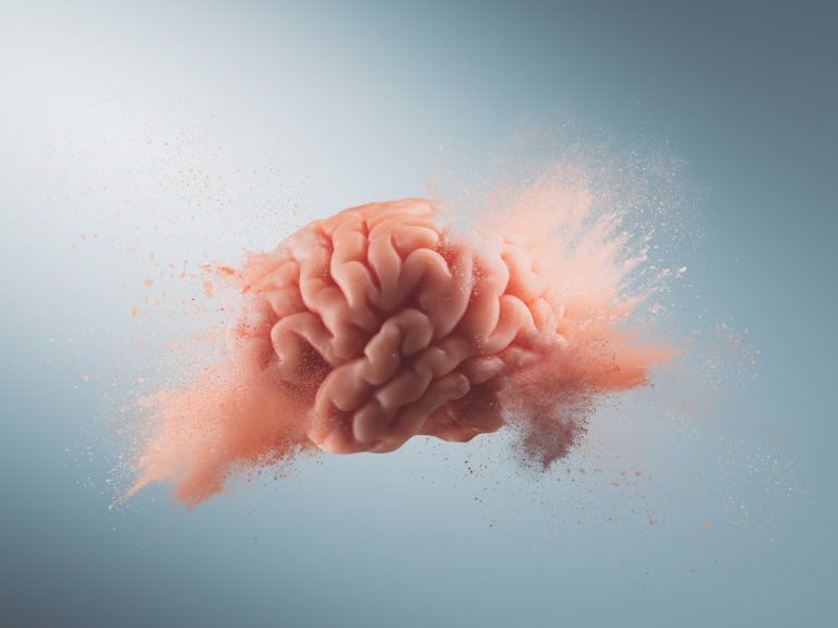 illustration of a brain exploding