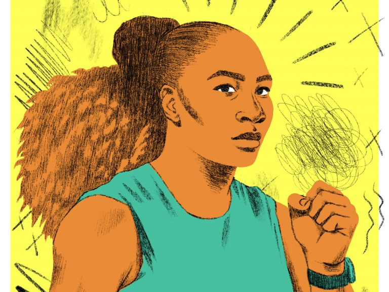 illustration of Serena Williams