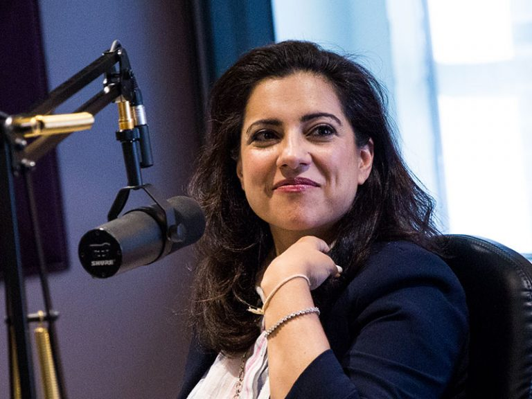 Reshma Saujani giving an interview