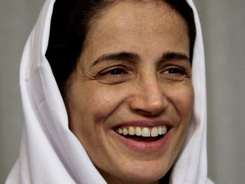 Nasrin Sotoudeh giving a speech