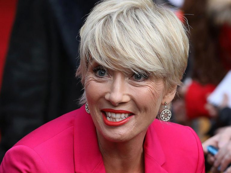 Emma Thompson smiles at an event