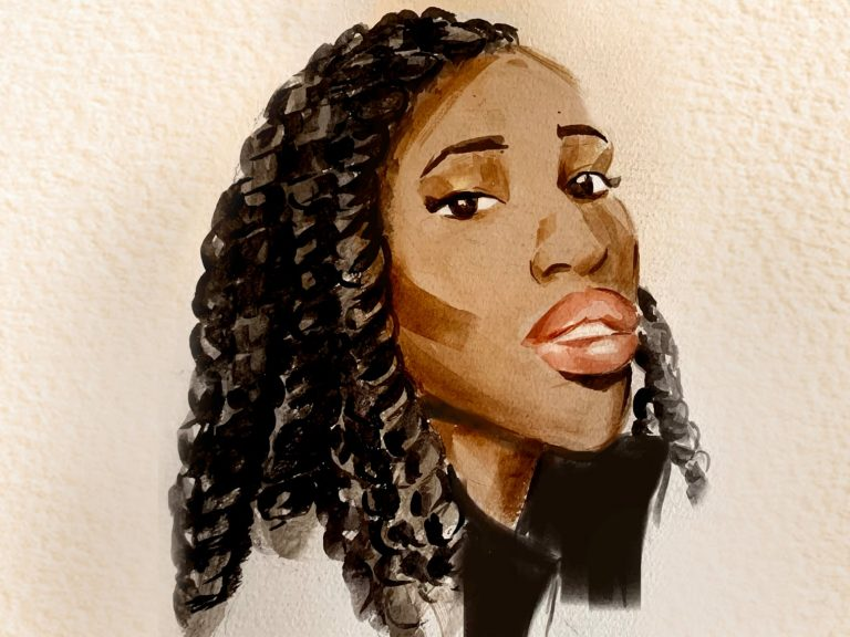 illustration of a black woman