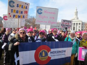 women marching at the Womens march