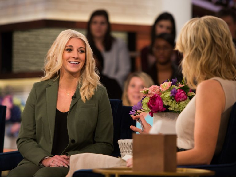 Bailey Davis, left, was interviewed on television by Megyn Kelly last spring.