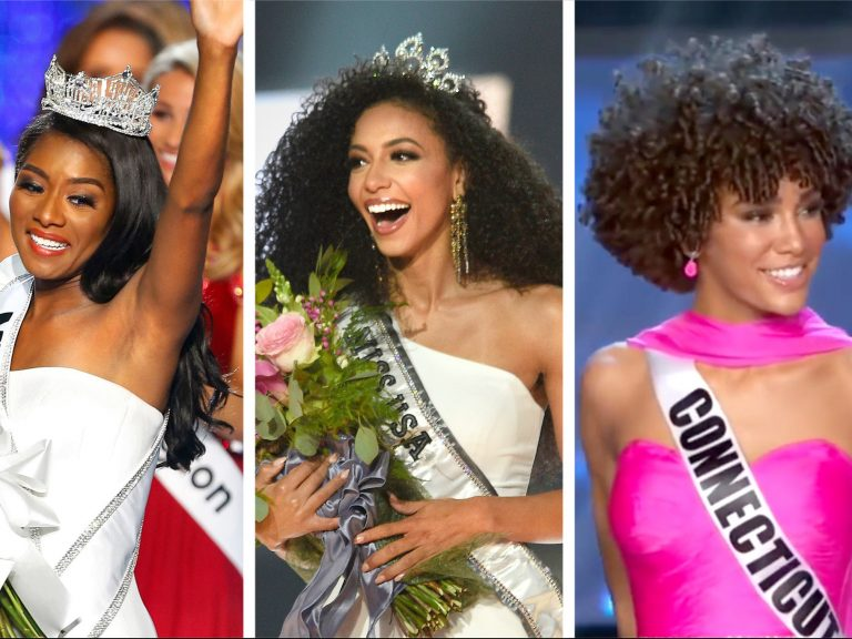 Nia Franklin, Miss America 2019; Cheslie Kryst, 2019 Miss USA; and Kaliegh Garris, 2019 Miss Teen USA.