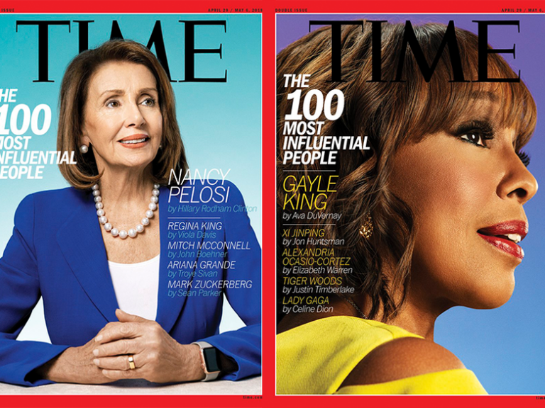 Cover of Time Magazine with Gayle King and Nancy Pelosi