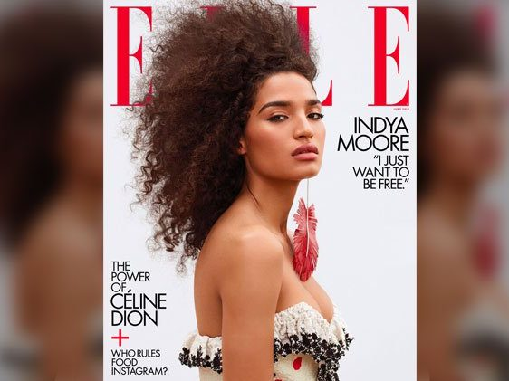 Indya Moore on the cover of Elle Magazine