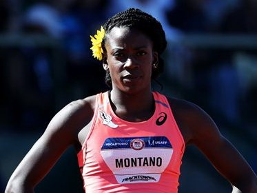 Alysia Montaño preparing for a race