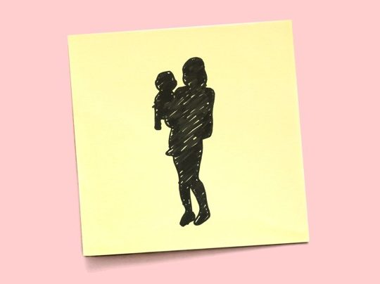 shadow of person holding baby