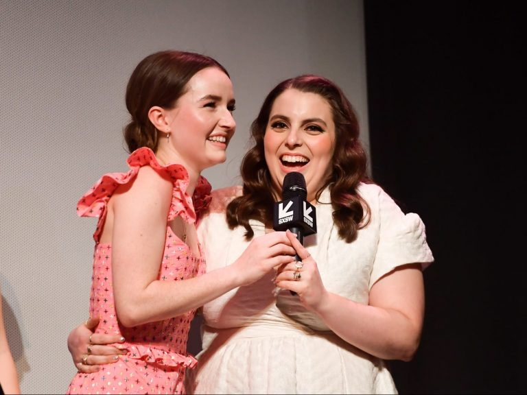 Kaitlyn Dever and Beanie Feldstein at the premiere of Booksmart at the 2019 SXSW Film Festival, on March 10 in Austin.