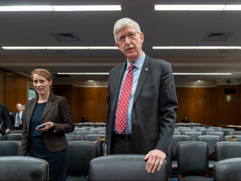 Dr. Francis Collins said he would not participate in all-male panels any longer.