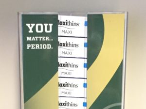 Pads and tampons are available at no charge on the main CSU campus and surrounding university facilities.