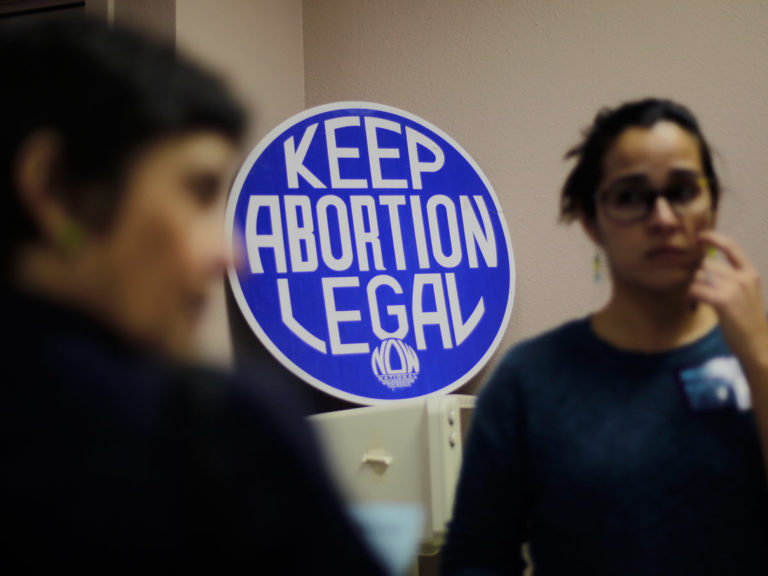 """Keep Abortion Legal"" sign"