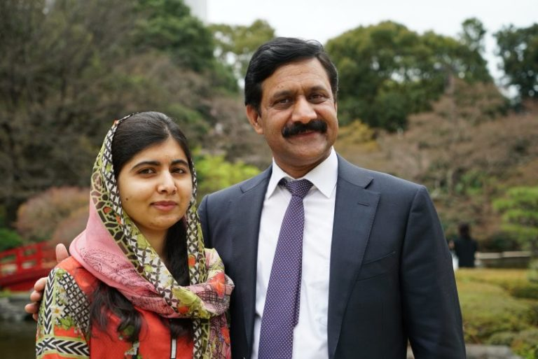 Ziauddin Yousafazi with his daughter Malala Ziauddin Yousafazi with his daughter Malala