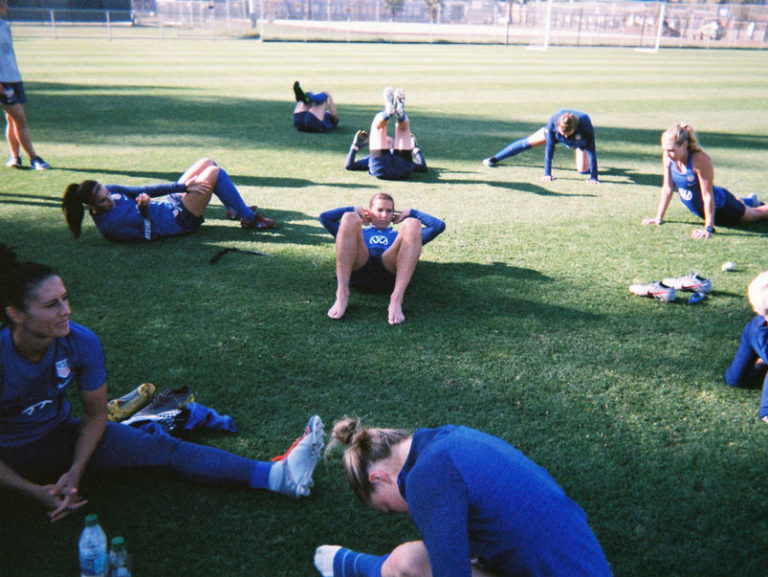 Members of the United States national team at training camp in San Jose, Calif., in May.