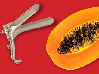 papaya and speculum