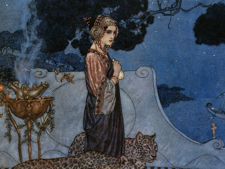 Circe (The Enchantress) by Edmund Dulac (1911). Illustration: De Agostini Picture Library/De Agostini via Getty Images