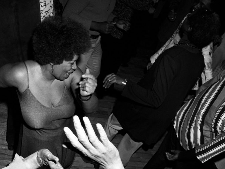 Toni Morrison dancing at a disco party in New York. March 5, 1974
